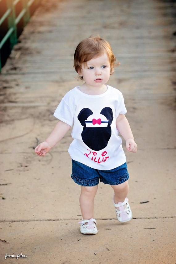 Disney Mickey Minnie Shirt Mouse Ears Personalized Name T Shirt Girls Boys Tee Baby Onesie High Quality