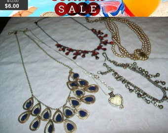 SALE Vintage jewelry lot, vintage jewelry for wear repair or craft lot