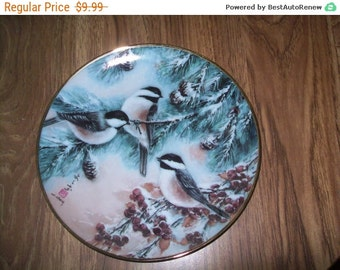 Bird collectors Plate, Sparrows and Evergreens, Franklin Mint Heirloom Recommendation series