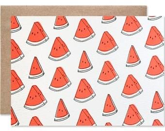Watermelon Blank Folding Card