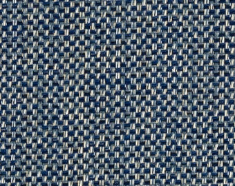 Dark Indigo Blue Woven Upholstery Fabric - Taupe Blue Tweed Textured Fabric for Benches Ottoman Throw Pillows - Dark Navy Headboard Material