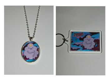 Adventure time Lumpy Space Princess Keychain or Necklace