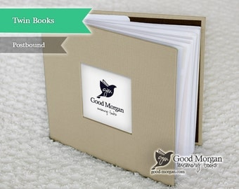 Twins Baby Memory Book - Beige