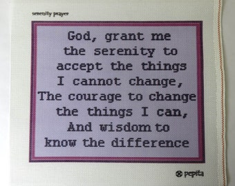 Imperfect Needlepoint Canvas Serenity Prayer
