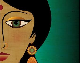 Female Portrait / Indian - Art Print