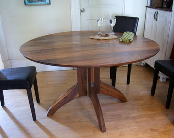 dining table, danish modern dining table, danish modern, walnut table, walnut dining table