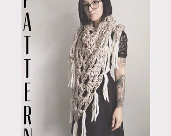 Crochet Triangle Scarf Pattern // Tutorial // Easy // Beginner