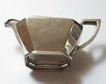 "Antique Sterling Silver ""Fairfax"" Creamer by Wm. B. Durgin, 196 grams, 3/4 pint, 1910-1930"