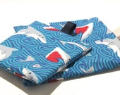 Reusable Snack Bag, Shark Bag, Reusable Sandwich Bag, Reusable Bag, Lunch Bag, Shark Week Bag