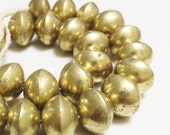 Big Bold Mali Tuareg Brass Beads, African Beads, Ethnic Jewelry Supplies (U106)