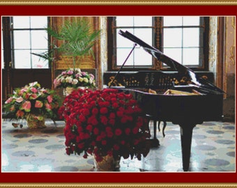 Grand Piano Cross Stitch Pattern