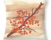 Gift Idea Gift Idea Orange Autumn Berries on Branch Pillow