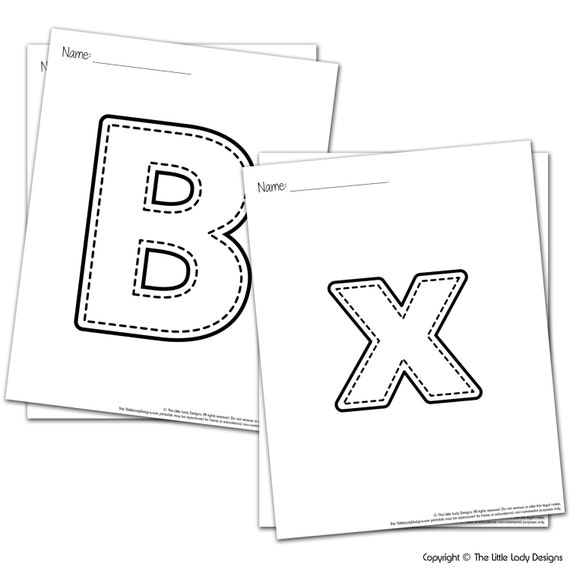 abc and 123 coloring pages printable coloring alphabet printable coloring pages teacher homeschool learning printable from everyoulstudio on etsy - 123 Coloring Pages