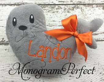 Personalized Gray Seal Stuffed Animal Soft Toy