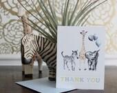 Safari Animals Thank You Cards