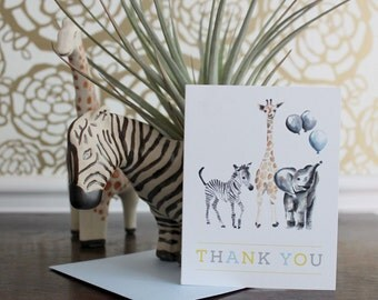 Safari Animals Thank You Cards