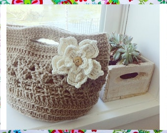 Eireen Bag Crochet Pattern- Easy Woman Bag-Summer Days