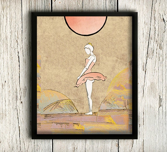 Ballet Art Print Ballet Art Home Decor by MargytaStudio1
