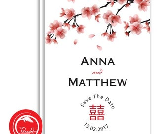 Oriental Save the Date Card