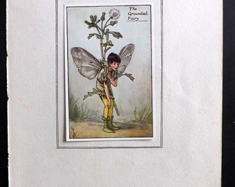 Cicely Mary Barker C1930 Flower Fairy Print. The Grounded Fairy