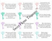 Set of 48 Verses for Moms, Printable Bible Verse Cards, Christian Scripture, Mother's Day, Anniversary, Engagement, Baby Shower