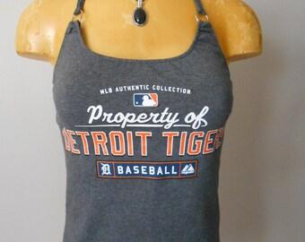 Detroit Tigers halter top Reconstructed MLB Baseball DIY