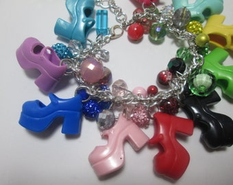 Platform Mary Jane Barbie Shoe Bracelet / Item 6-113