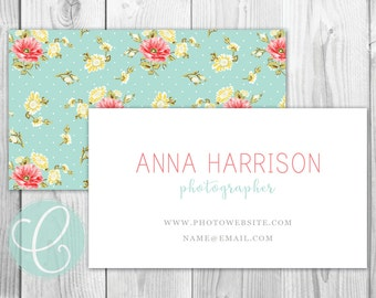 Business Cards / Calling Cards - Printable or Printed - Shabby Chic