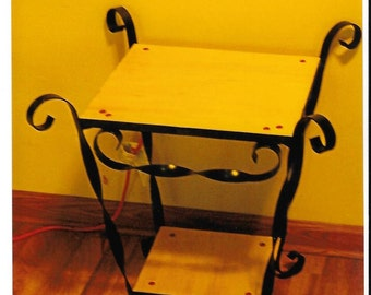 Wrought Iron end table or night stand