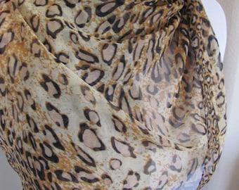 "Scarf Ladies Leopard Print Scarf or Wrap -  20"" x 60"" Long"