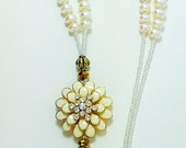 Beaded Lanyard Freshwater Pearls LQ Expressions