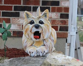Cairn Dog Mailbox, Dog Lover Gift,  Wooden dog Mailbox, Hand Painted Mailbox