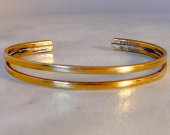 Vintage Copper Bracelet      Size Small   Designer Signed Sergio Lub
