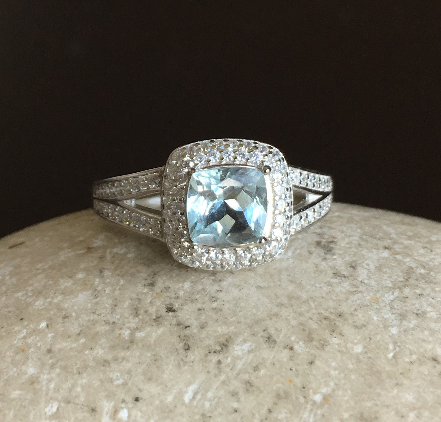 aquamarine engagement ring promise ring for aquamarine