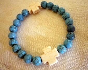 Bracelet beads Howlite