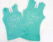 Flower Girl Tank Top. Wedding, Children, Kids, Junior Flower Girl Tank, Todler FlowerGirl Shirt. flowergirl t-shirt. Junior Flowergirl tank.