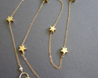 7  Star Necklace, twinkle twinkle little Star necklace, delicate Star, Teacher's necklace, Gift for Teacher, inspire gift for teacher