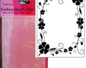 PANSY - PANSIES FRAMEd  by  CRAFTS Too !!    Embossing Folder A2  - Rare Item !! IMPORTeD