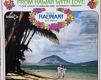 From Hawaii with Love Sung by Haunani Vintage Vinyl Record 1960s
