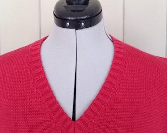 LANDS END VEST-Extra Large,Mens Sweater Vest,Cotton Vest,Mens Vest,Golf Vest,Vest,Red Vest,Country Club Vest,Preppy Vest,Mens Clothing,Boat