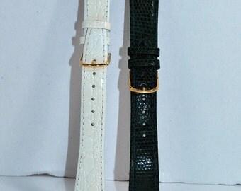 Green & White Watch Band Duo