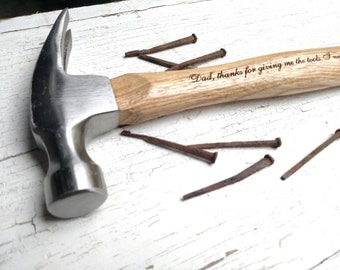 Personalized Hammer, Engraved Hammer, Groomsmen Hammer, Groomsmen Gift, Father of the Bride, Fathers Day Hammer, Custom Hammer
