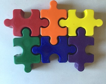 Set of 6 Eco-Friendly Puzzle Crayons