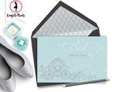CINDERELLA Bridal Shower Thank You Card Printable