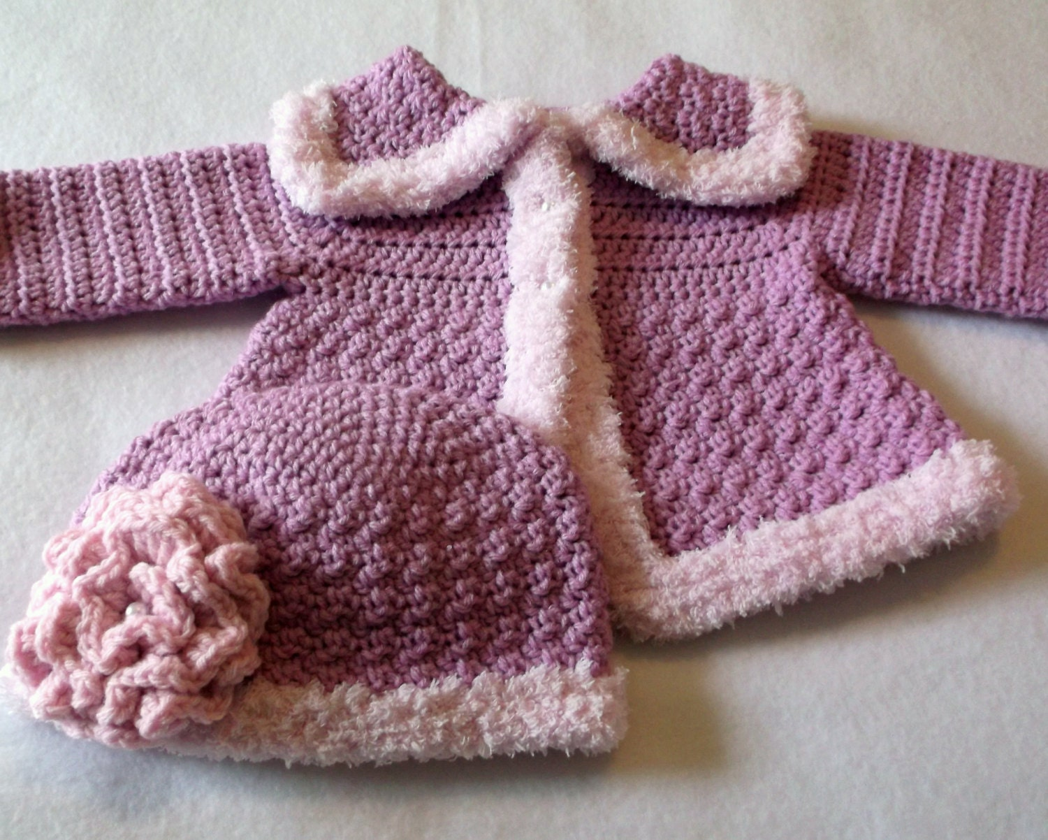 Crochet PATTERN Baby Sweater & Hat Patterns The Charlie Girl
