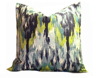 Decorative Pillow Euro Sham Cover Ikat Crazy Frost 12 16 18 20 22 24 26 30 36