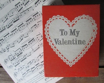 To My Valentine Vintage Wind Up Beating Heart