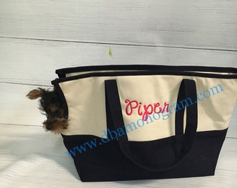 Monogram Pet Carrier with Cushion, Monogram Dog Carrier