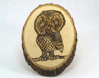 Wood Burnt Owl
