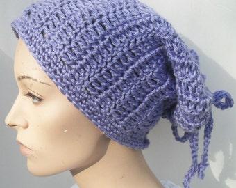 Purple hat for women- Crochet hat for women - Slouchy hat for women- Cowl for women - Beanie for women- Headband for women - Purple beanie